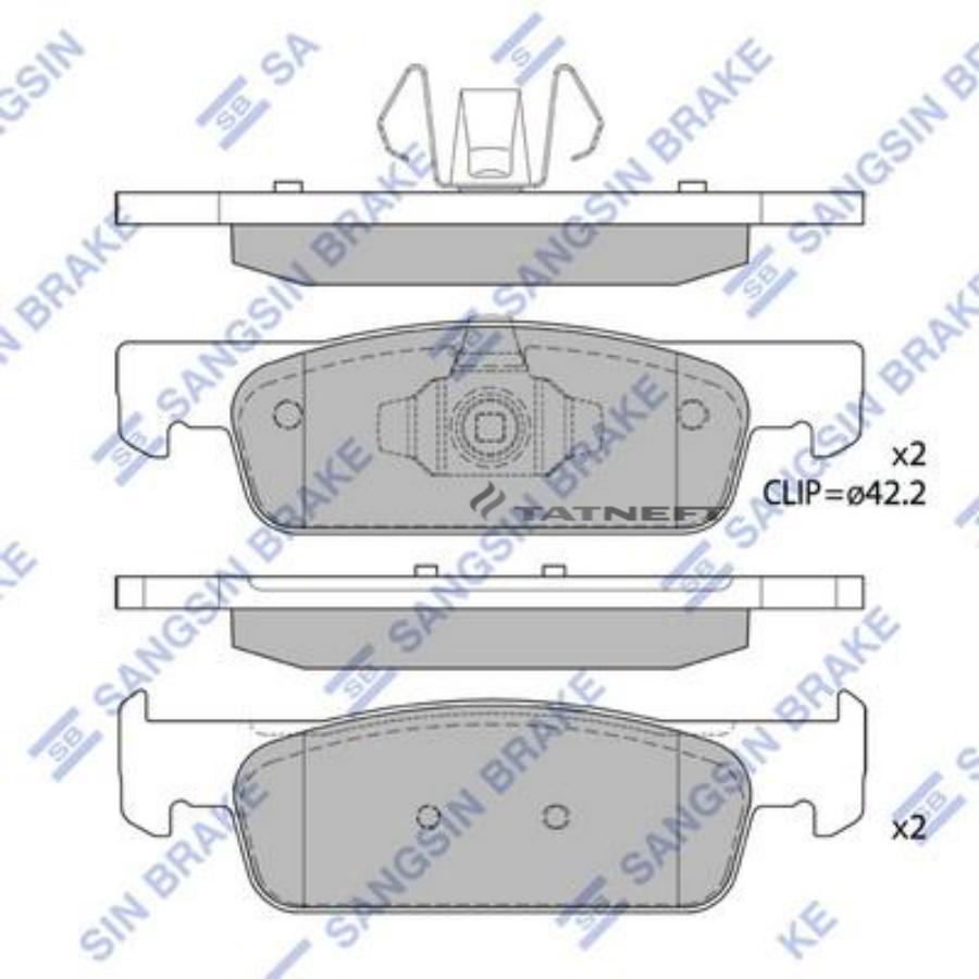 Колодки тормозные передние SP1787