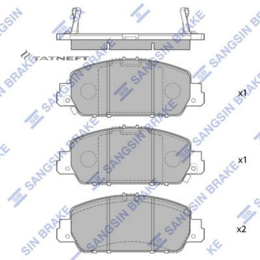 Колодки тормозные передние SP1779