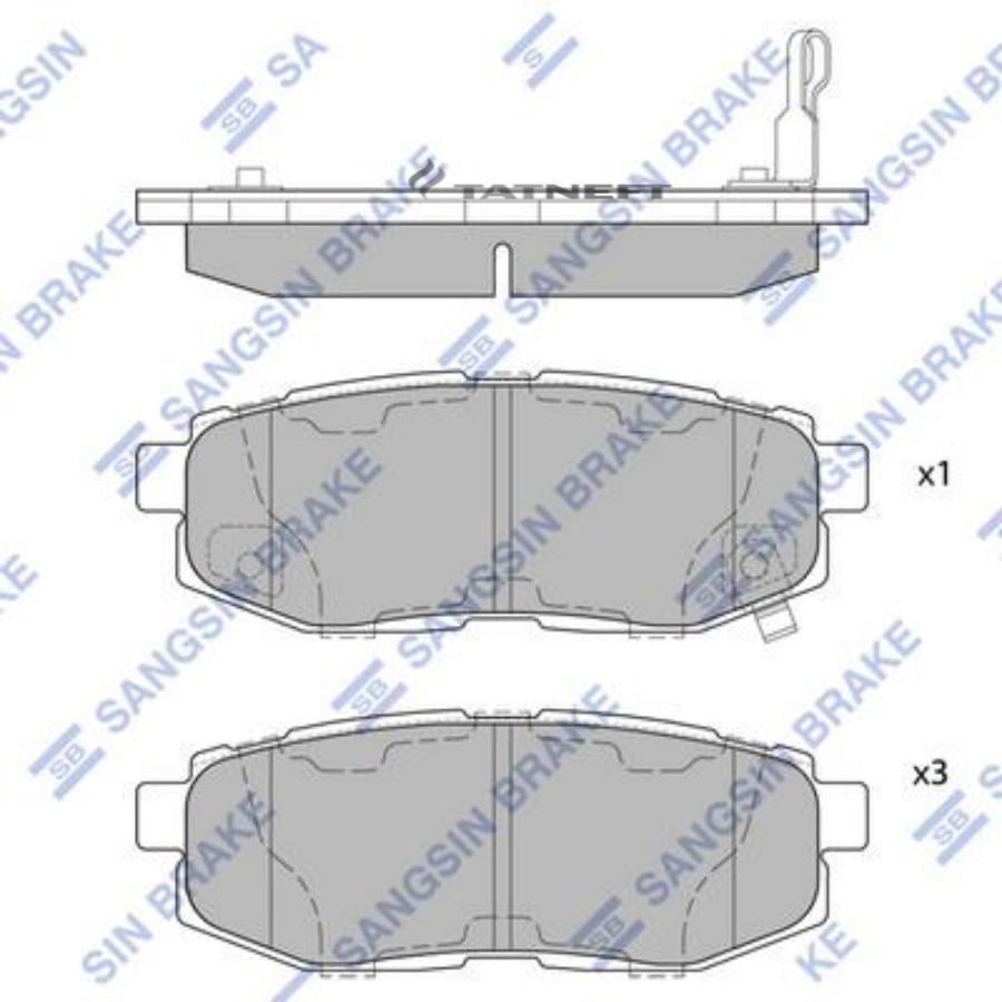Колодки тормозные задние SP1777