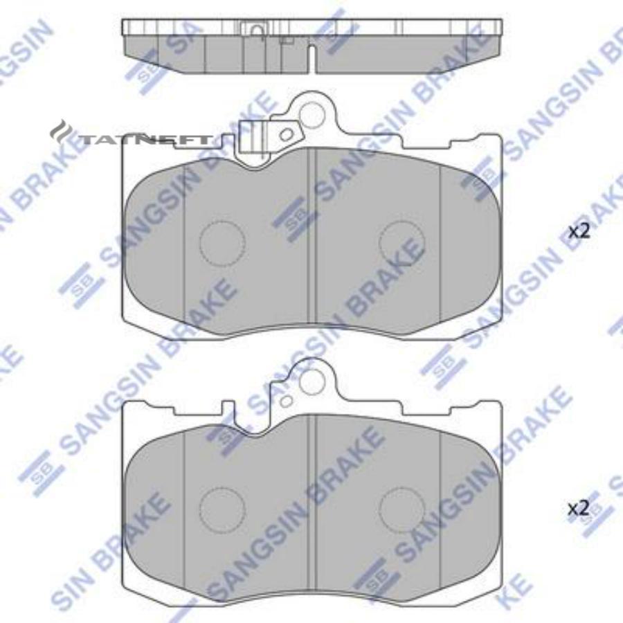 Колодки тормозные передние SP1773
