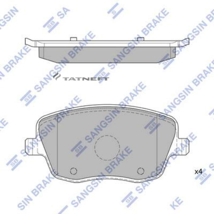 Колодки тормозные передние SP1806
