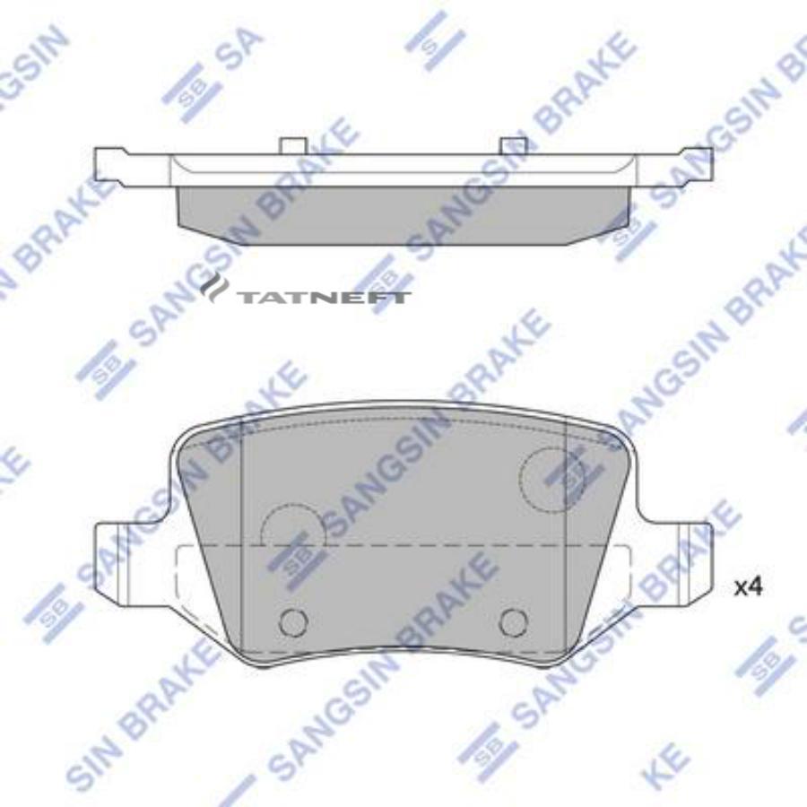Колодки тормозные задние SP1748
