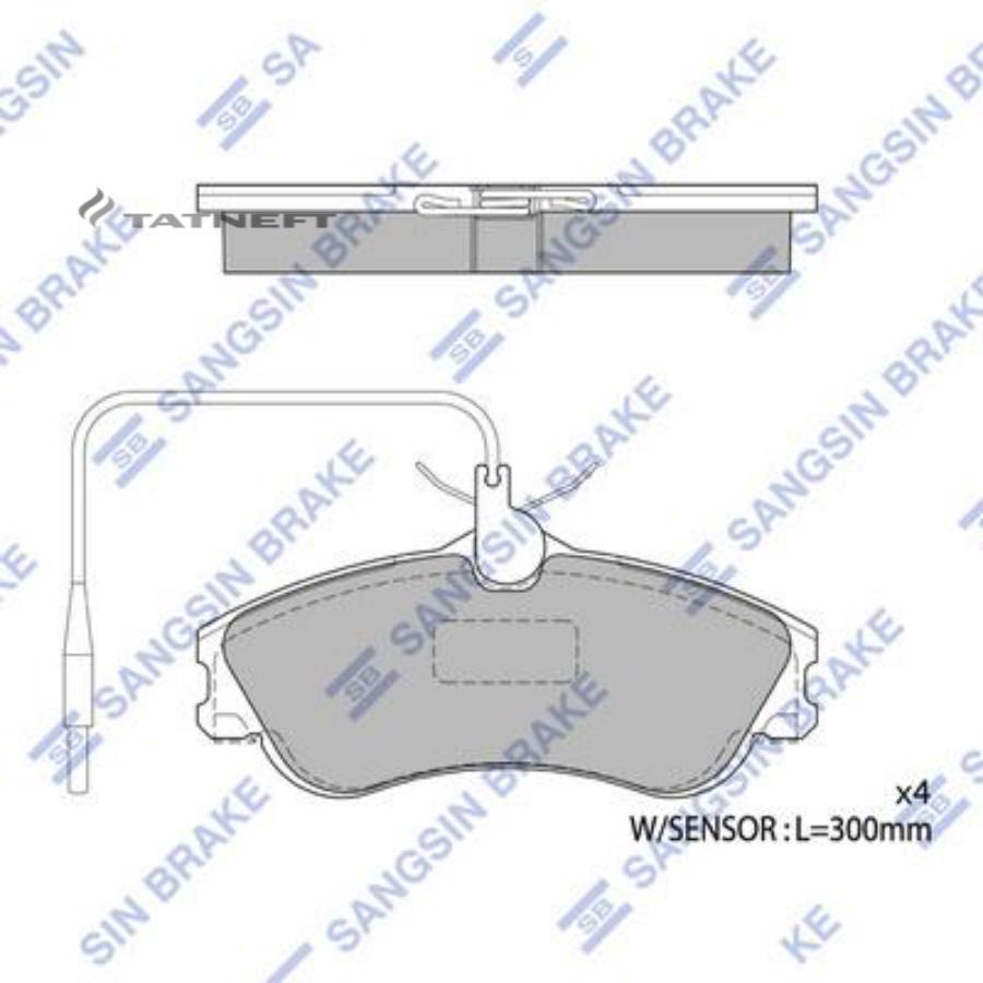 Колодки тормозные передние SP1743