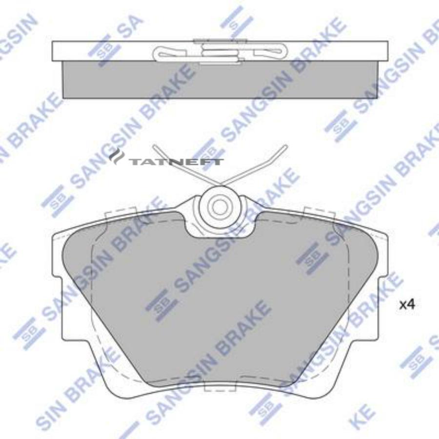 Колодки тормозные задние SP1742