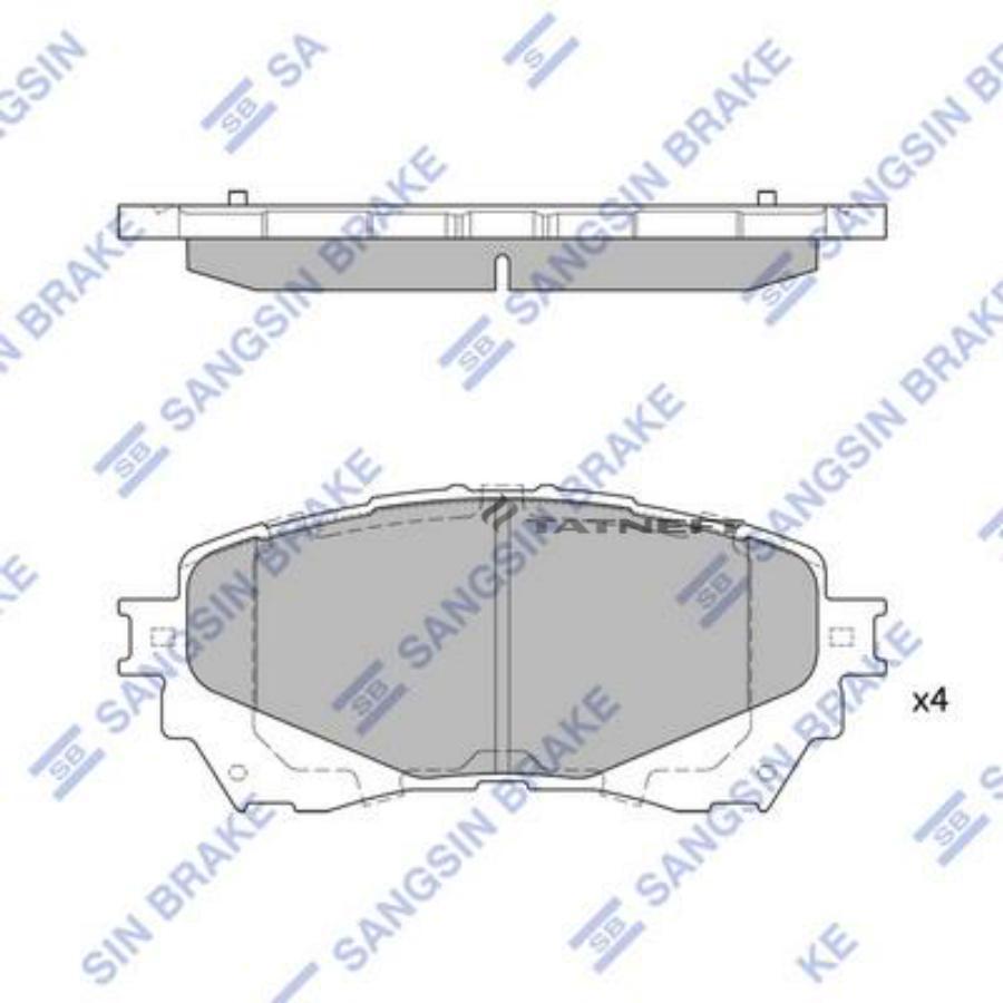 Колодки тормозные передние SP1728