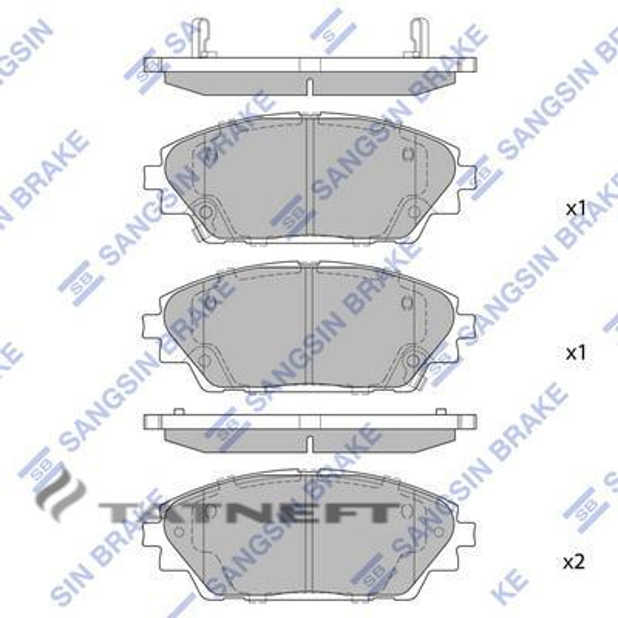 Колодки тормозные передние SP1729