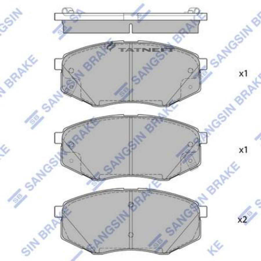 Колодки тормозные передние SP1681