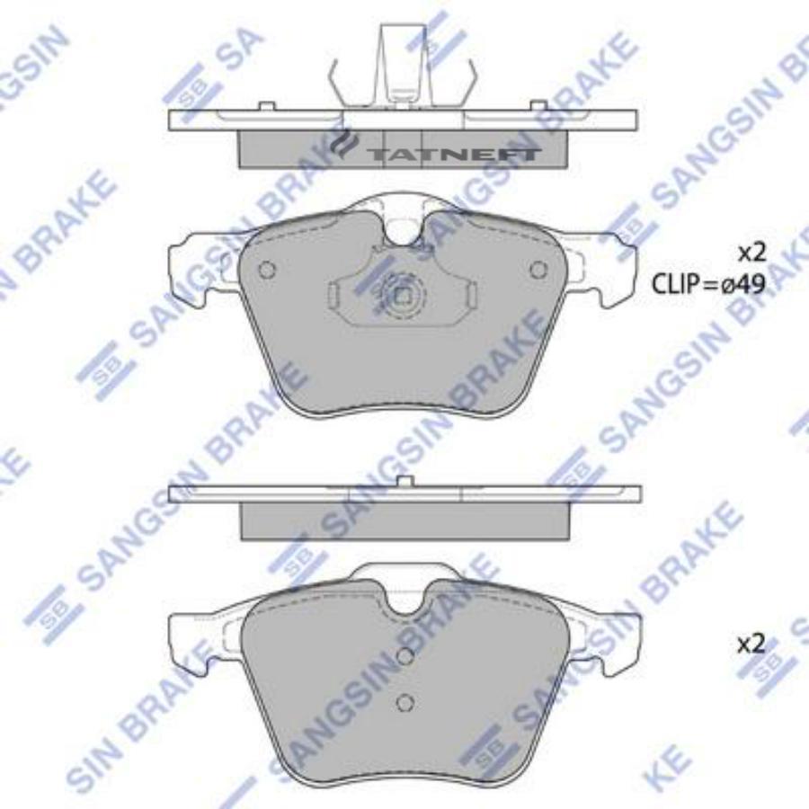 Колодки тормозные передние SP1702
