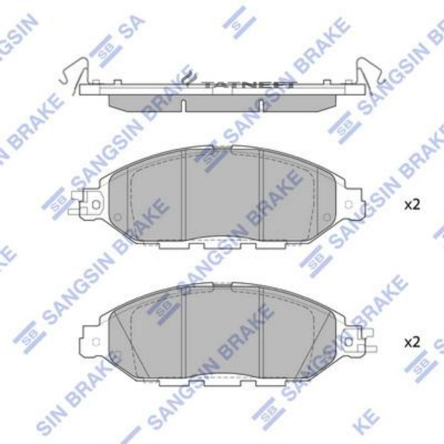 Колодки тормозные передние SP1713