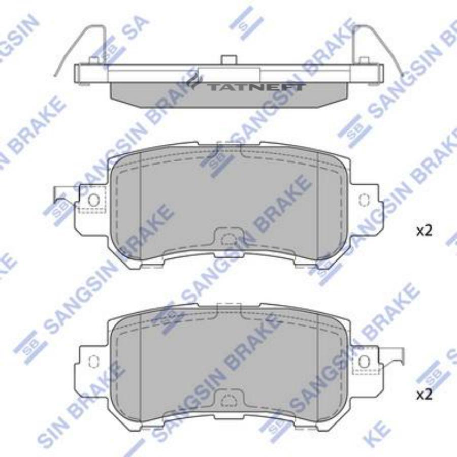 Колодки тормозные задние SP1672