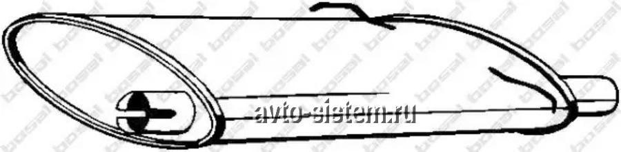 Глушитель Volvo 740-940  ->2.8-2.4D/235-021