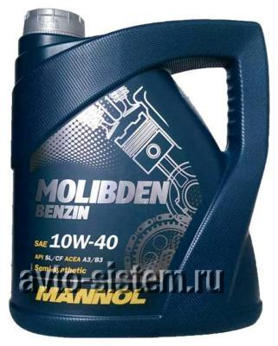Масло моторное полусинтетическое MOLIBDEN BENZIN 10W-40, 4л