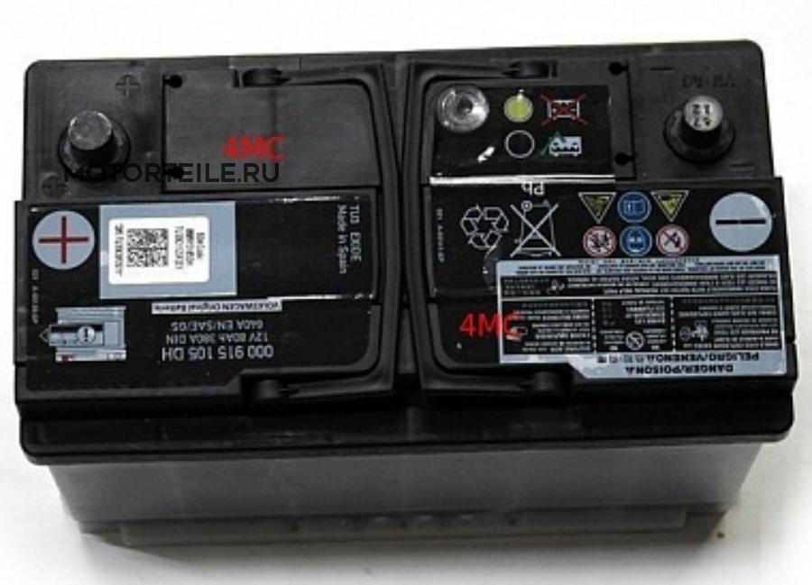 Аккумуляторная батарея, 80AH 380А