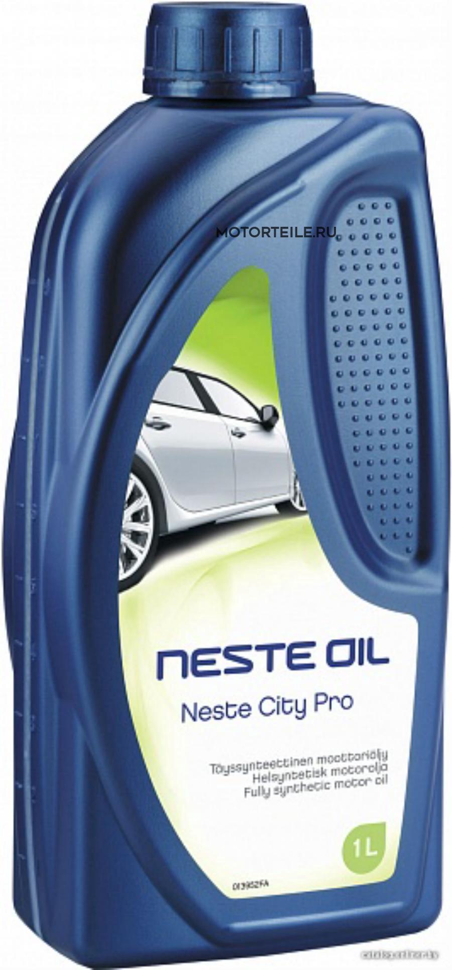Масло моторное Neste CITY PRO C4 5W-30 1 литр полностью синтетическое