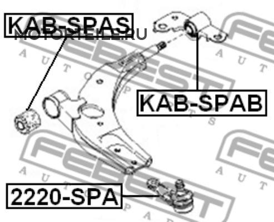 Опора шаровая KIA SPECTRA (ИЖ)   KIA SHUMA II 2004-> нижняя левая/правая