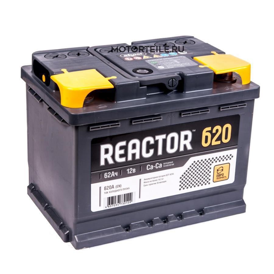 Аккумулятор АКОМ REACTOR 62 А/ч обр
