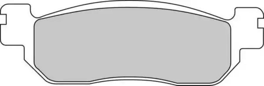 Колодки тормозные YAMAHA (=FDB2083EF)