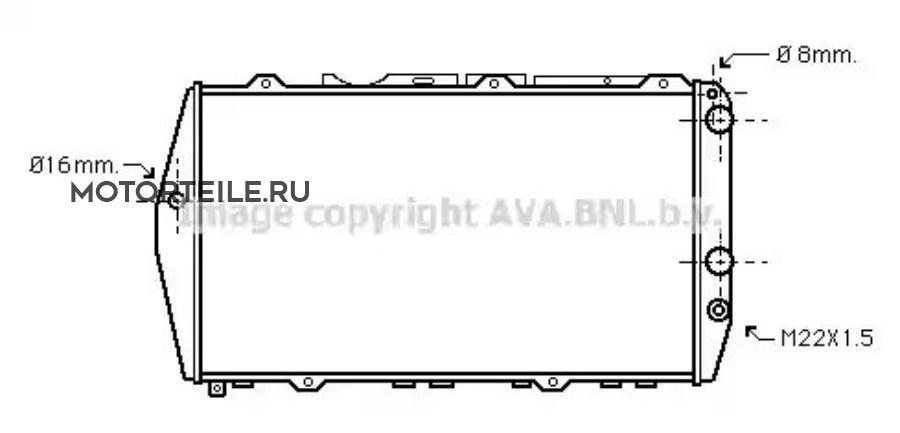 Радиатор VAG A100 1.6-2.3/2.0D 76-92