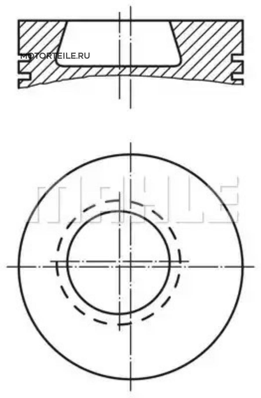 Поршнекомплект MB OM364 | OM366 d97.5 STD 1992->
