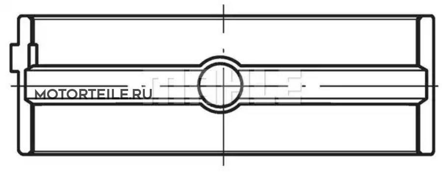 Вкладыши коренные STD без полуколец на 1 шейку MB OM401 | OM402 | OM403 | OM404 | MAN