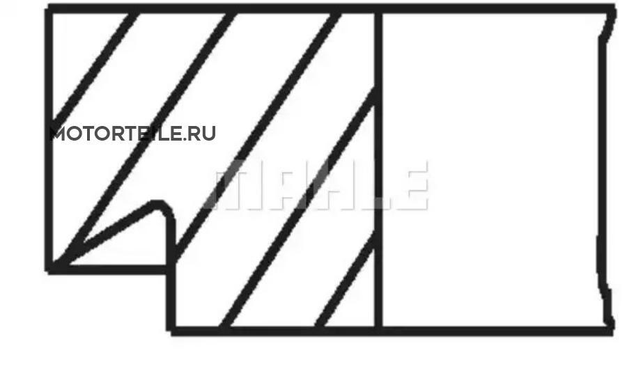 Кольца поршневые MB M272.960 d92.9 STD 1.5-1.75-2.5 (272 037 17 18)