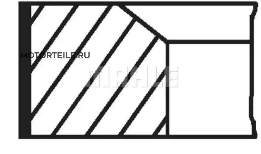 Кольца поршневые MB M119.970 | M119.972 | M119.974 d96.5 STD 1.75-2-3.5 на 1 цил