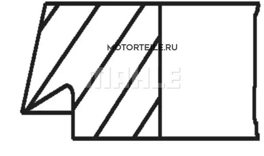 Кольца поршневые Compressor d100.0+0.5 2.5-2.5-4.0 на 1 цилиндр