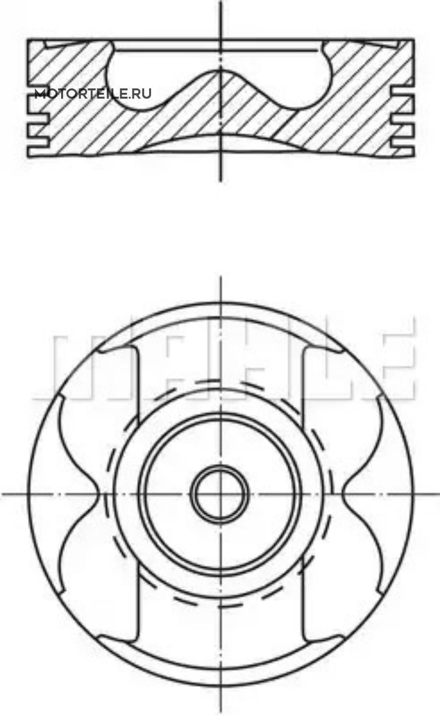 Поршнекомплект MB OM611   OM612   OM613 220D   270D   320D 1999-> d88.0+0.75 (палец 30mm)