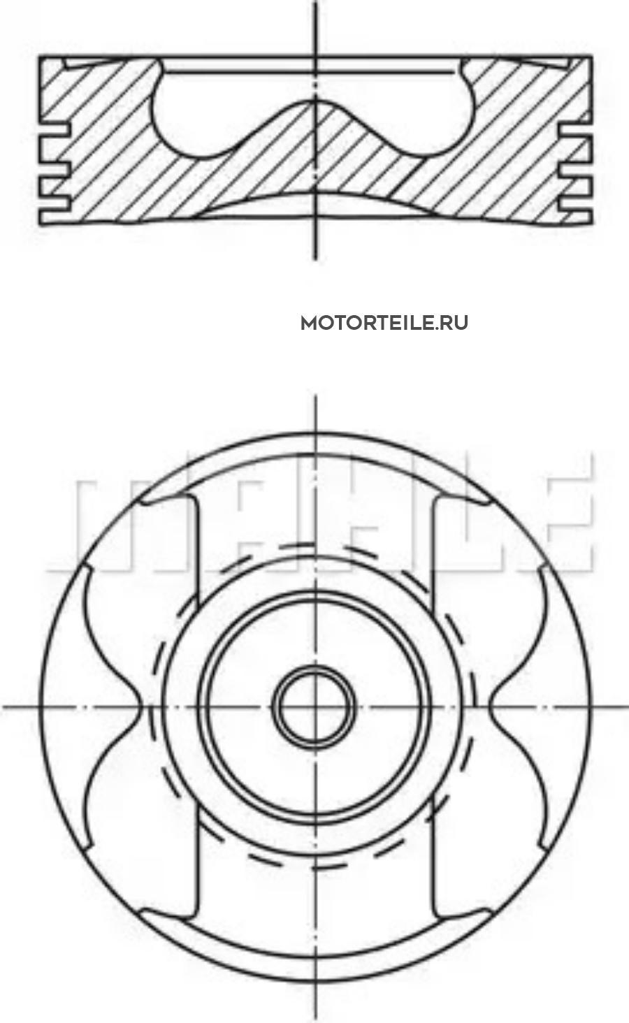 Поршнекомплект MB OM611 | OM612 | OM613 220D | 270D | 320D 1999-> d88.0+1.00 палец 30mm