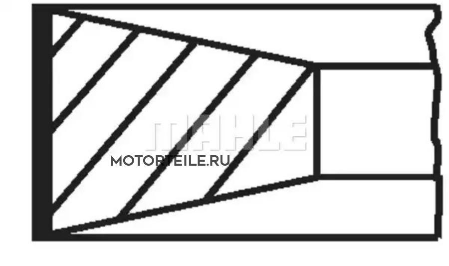 Кольца поршневые MB OM314 | OM352 | OM353 d97.0 STD 3-3-3-5.5-5.5 на 1 цил
