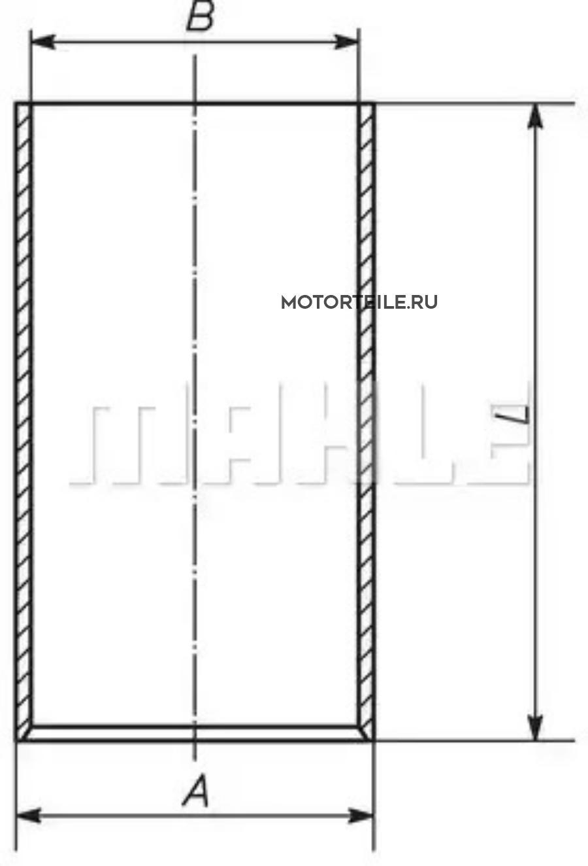 Гильза MB OM366 d=97.50 (A366 011 0010)