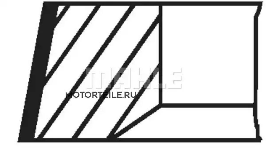 Кольца поршневые MB OM646.986 d88.0 STD 2.5-2.0-2.0