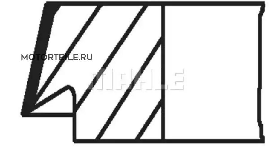 Кольца поршневые MB M111 1.5-1.75-3 STD