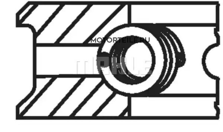 Кольца поршневые Compressor d100.0+1.0 2.5-2.5-4.0 на 1 цилиндр