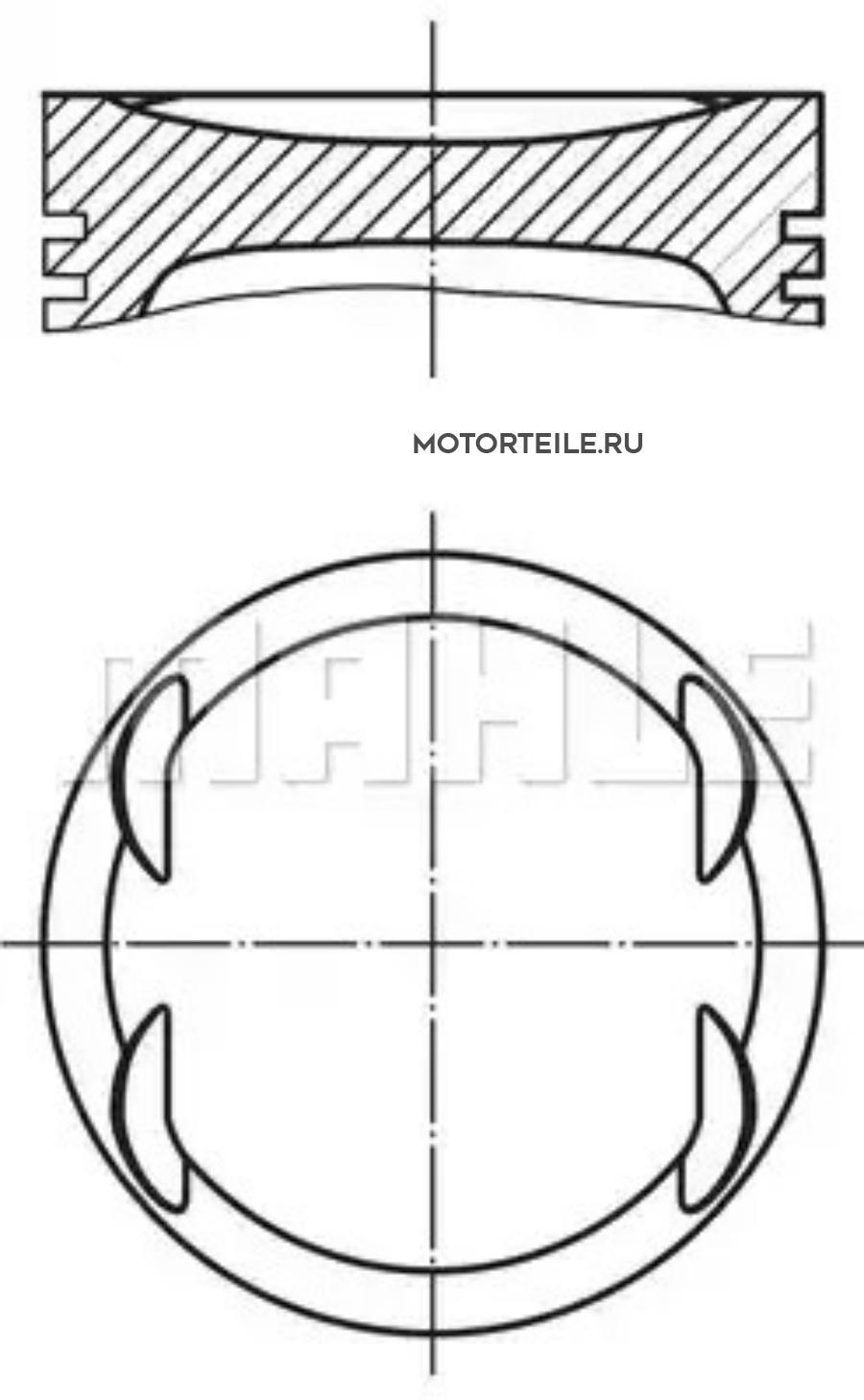 Поршнекомплект MB M271.940 d82.0 STD (271 030 22 17)