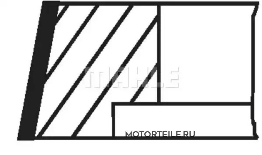 Кольца поршневые MB OM401LA Euro1 d125.0 STD 3-3-4 на 1 цил