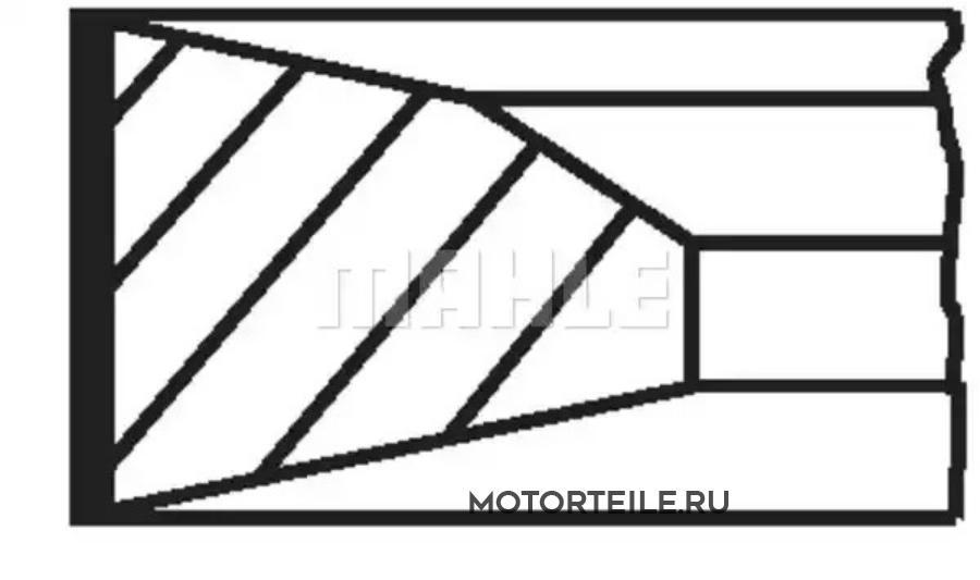 Кольца поршневые MB OM457.915 d128.0 STD 3.0-3.0-4.0 на 1 цил (457 037 09 18)