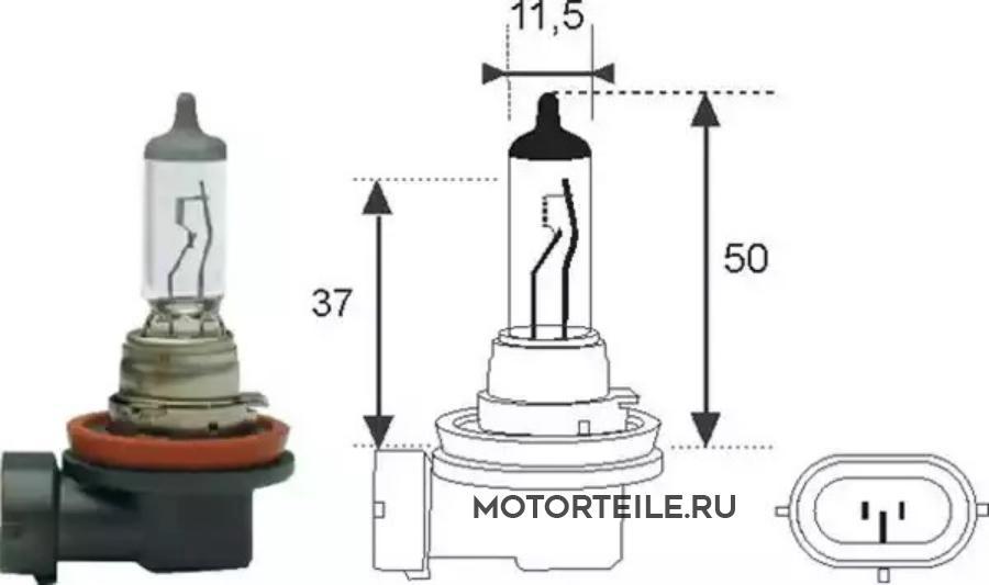 Лампа H11 12V [standart]