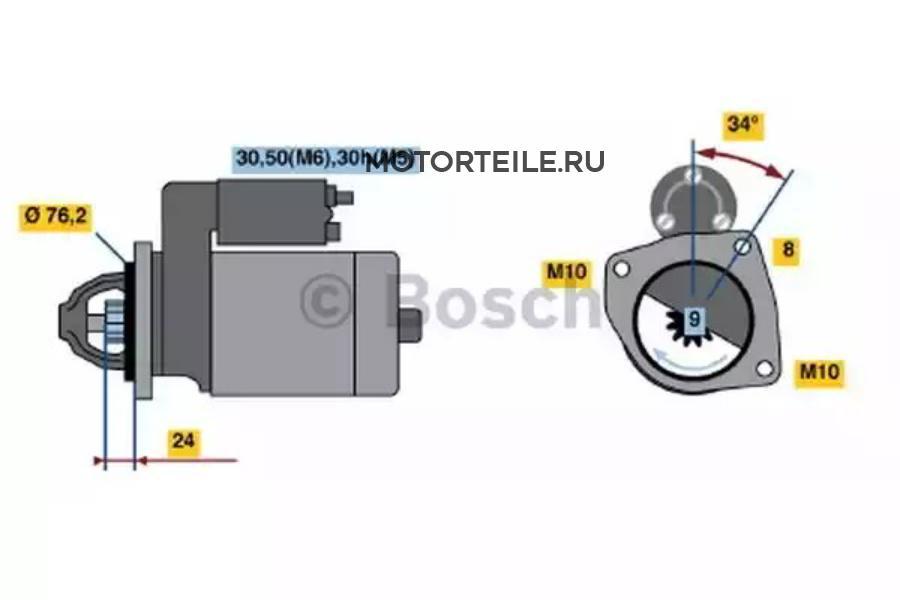 Стартер BMW E36   E38   E39   E46 1.1кВт