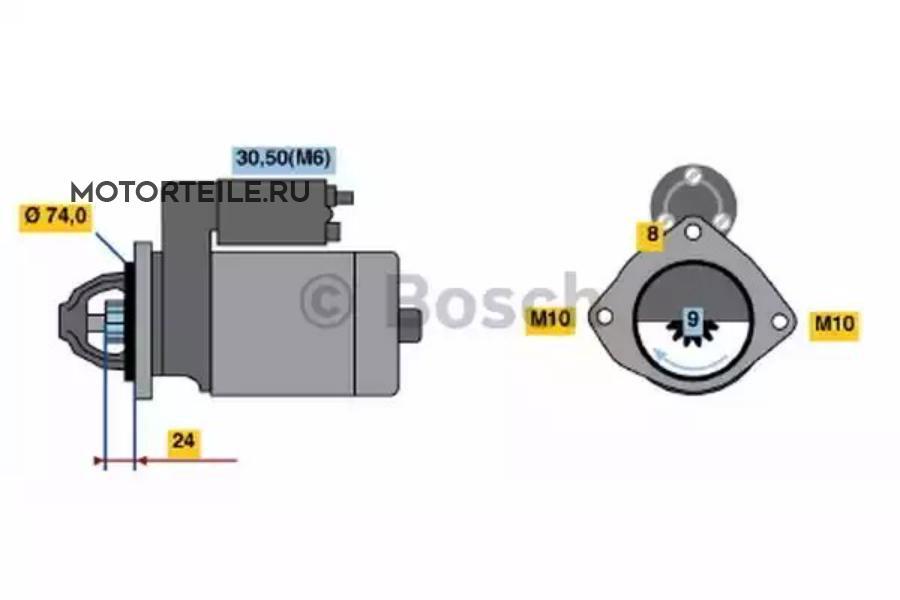Стартер BMW 2.0D | 3.0D 1.8кВт