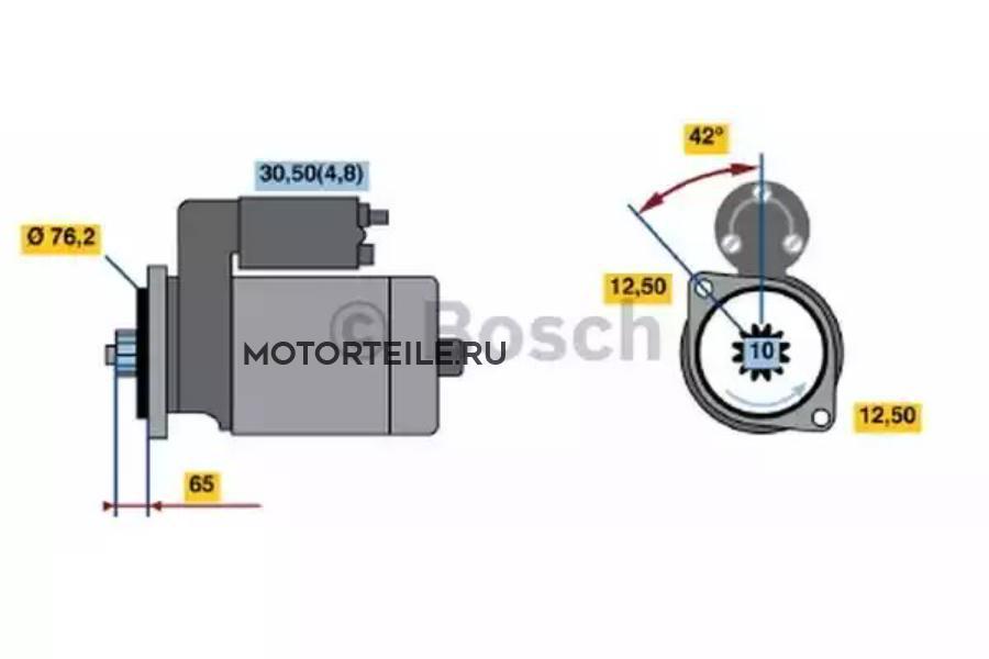 Стартер VW T5 ->2009 2.5TDI 2.2кВт
