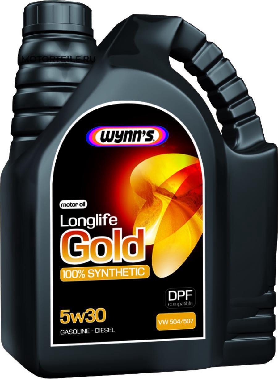 Моторное масло синтетическое WYNNS LONGLIFE GOLD 5W-30, 5л