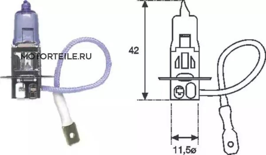 Лампа H3 12V  [standart] min10
