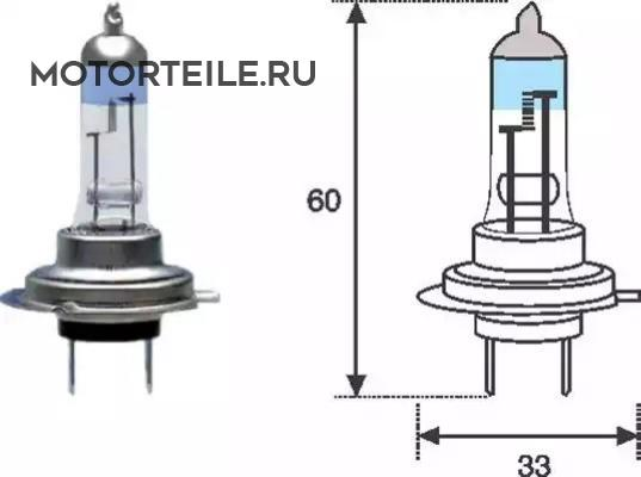Лампа H7 XL 12V [+50%]