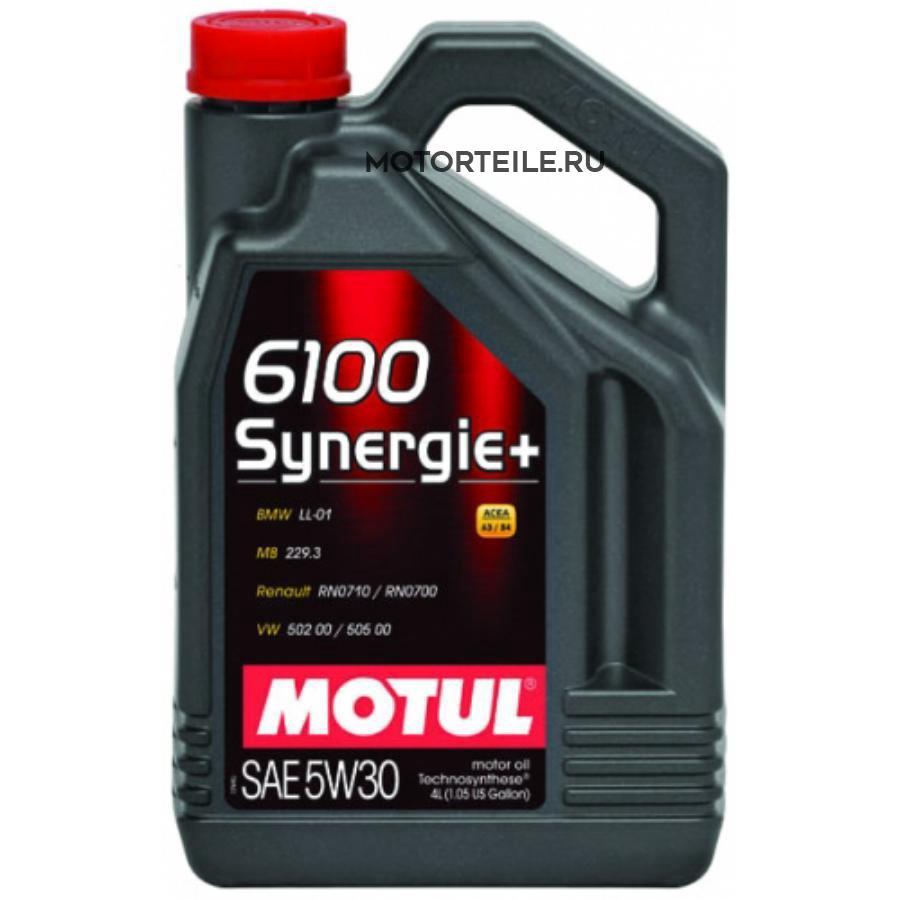 Масло моторное полусинтетическое 6100 Synergie+ 5W-30, 4л