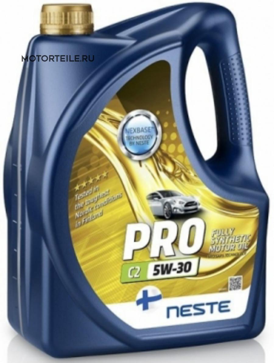 Масло моторное Neste Pro C2 5W-30 4 литра полность синтетическое