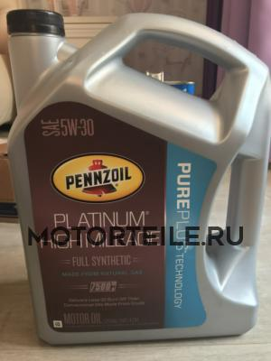 Масло моторное синтетическое Platinum High Mileage Vehicle Full Synthetic Motor Oil (Pure Plus Technology) 5W-30, 4,73л