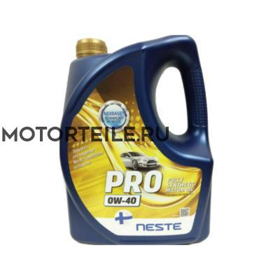 Масло моторное Neste Pro 0W-40 4 литра полностью синтетическое