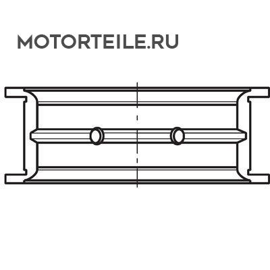 Вкладыши коренные STD MB OM457LA упорный (на 1 шейку)