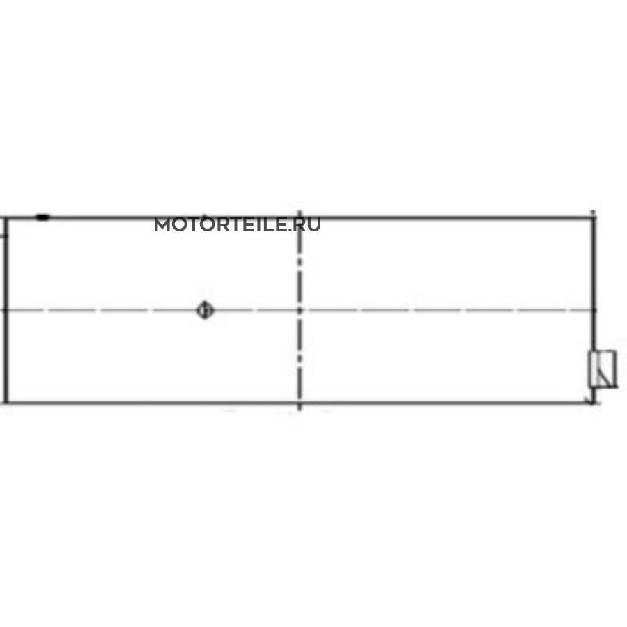 Вкладыши шатунные +0,50 SPUTTER 31mm MB OM401 | MAN (на 1 шейку)